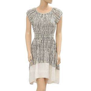 Free People Stripe Printed Embroidered Dress XS